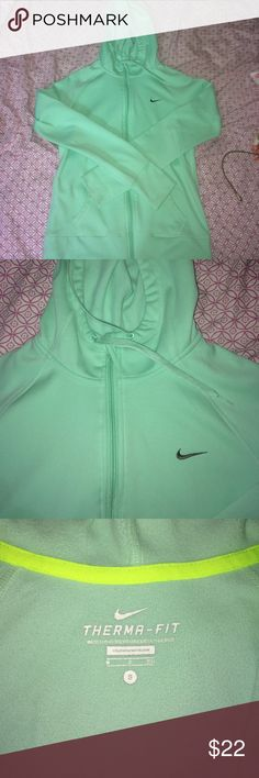 Nike Therma-Fit Mint Zip Mint Nike zip up hoodie, size Small Nike Tops Sweatshirts & Hoodies