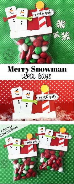 It's Written on the Wall: Gotta See our Newest Design for Christmas-Merry Snowman Treat Bags-Party Favors, Gifts and Christmas Treat Bags, Christmas Party Favors, Christmas Games, Christmas Diy, Christmas Candy, Christmas Decorations, Xmas, Christmas Stocking Stuffers, Christmas Stockings