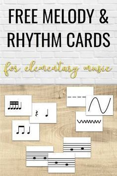 Free printable melody and rhythm cards to use during instrument exploration day. Fantastic ideas for having elementary music students explore new instruments in the music classroom! Elementary Music Lessons, Singing Lessons, Piano Lessons, Singing Tips, Elementary Teaching, Elementary Schools, Musica Love, Music Education Activities, Physical Education
