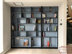 Home Library Rooms, Home Library Design, Home Room Design, Home Office Design, House Rooms, House Design, Library Wall, Living Rooms, Bookcase Door