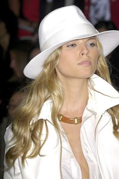 Tendencias: White felt #hat. Visto en Ralph Lauren Fashion show