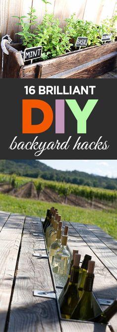 16 Brilliant DIY Backyard Hacks