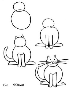 how to draw a cat❤❤