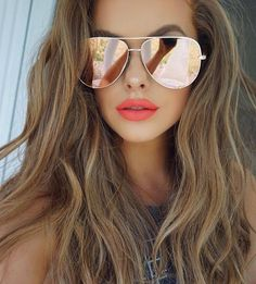 Summer is here ☀️ @quayaustralia X @desiperkins High Key Sunglasses @toofaced Feelin' Myself liquid lipstick #toofaced #quayaustralia