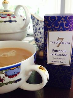 Celebrating the creation of our soon to be released Patchouli of Rwanda fragrance with a glorious cup of tea. #MyFaveThings