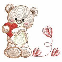 Rippled Teddy Bear(Sm) machine embroidery designs