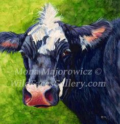 Hey, I found this really awesome Etsy listing at https://www.etsy.com/listing/229070603/cow-painting-blue-and-white-heifer-cow