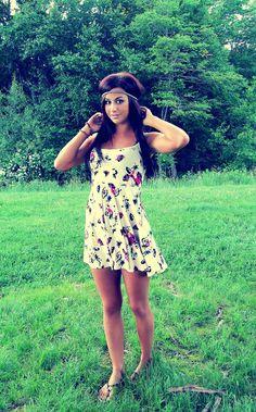she legit perfect. she tan, her hair, her dress<3