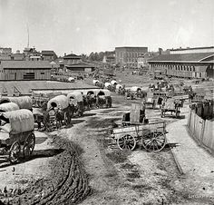 Wagon Train Atlanta 1864