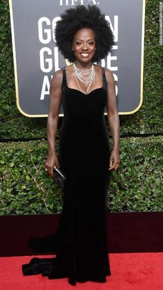 Viola Davis attends the 75th annual Golden Globe Awards on Sunday, January 7.