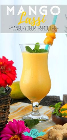 Try this creamy yummy Mango Lassi recipe, an Indian subcontinental drink that is basically a smoothie from ripe mangoes, yogurt and some spices. Breakfast Smoothie Recipes, Healthy Dessert Recipes, Drink Recipes, Vegetarian Recipes, Healthy Food, Desserts, Refreshing Drinks, Yummy Drinks, Fun Drinks