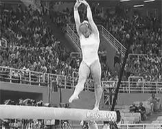 Crazy cool flips, twists, and turns from elite gymnasts around the world. Prepare to feel really inflexible after seeing these 20 gymnastics GIFs. All About Gymnastics, Gymnastics Moves, Gymnastics Videos, Sport Gymnastics, Artistic Gymnastics, Olympic Gymnastics, Gymnastics Events, Gymnastics Stuff, Rhythmic Gymnastics
