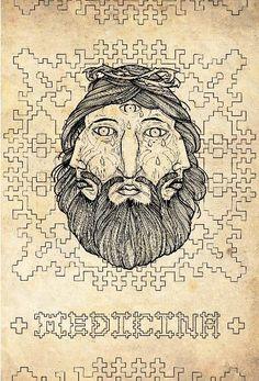 Medicina- David Hale & Kris D- illustration book- beautiful drawings & Tesselations