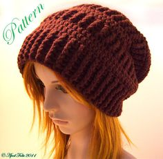 Mocha Slouchy Delight Hat P A T T E R N by AprilDraven on Etsy, $3.00