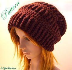 Mocha Slouchy Delight Hat P A T T E R N by AprilDraven on Etsy, $3.00