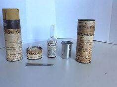 Ancien Potion Scie Flacon Fiole Pot Boite Pharmacie Apothicaire Médecine  Coca 2 • EUR 19,50
