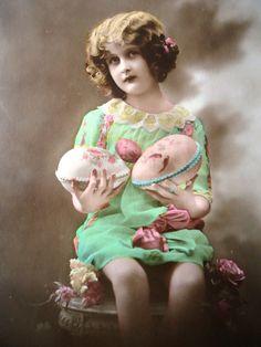 Vintage Easter girl