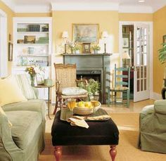 20 Small House Dos and Don'ts. Furniture For Small Spaces, Decorating Small Spaces, Decorating Ideas, Decor Ideas, Small Living Rooms, Living Room Designs, Tiny Living, Built In Bookcase, Dining Room Walls