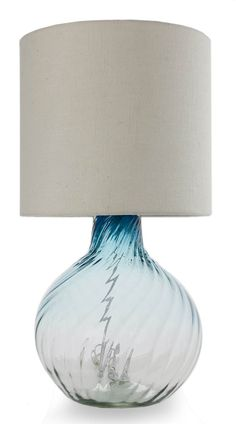 Ebay hand blown glass table lamp with jute shade blue fantasy blown glass table lamp aquamarine enchantment novica mozeypictures Gallery