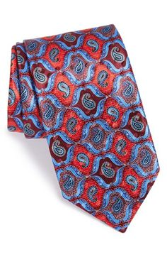 Ermenegildo Zegna Paisley Print Silk Tie available at Sharp Dressed Man, Well Dressed Men, Fashion Moda, Mens Fashion, Fashion Souls, Tie Crafts, Suit Accessories, Fashion Accessories, Tie And Pocket Square
