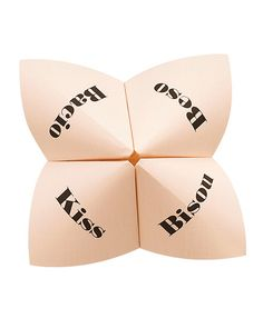 Lip-Smacking Good Cootie Catcher: Download this #free reception game clip art