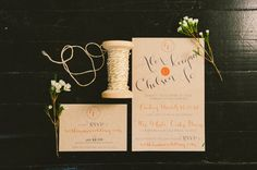 Custom Calligraphy Wedding Invitation Suite #honeyhoneycalligraphy
