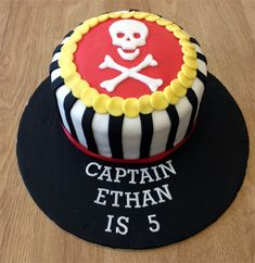 Pirate Skull & Crossbones Birthday Cake