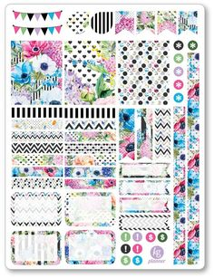 Bouquet Decorating Kit PDF PRINTABLE Planner Stickers