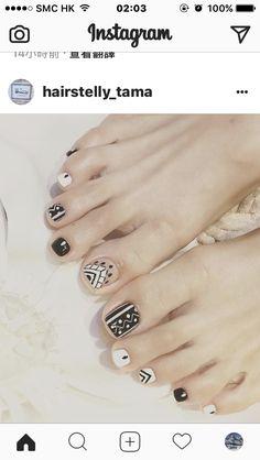 Korea Nail, Cool Nail Designs, Mani Pedi, Fun Nails, Beauty Makeup, Nail Polish, Nail Art, Tattoos, Feet Nails