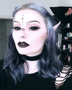 In need of some Halloween makeup motivation? We've got you covered with these head-turning makeup concepts & tutorials that you can try out practicall. Costume Halloween, Halloween Make Up, Halloween Face Makeup, White Contacts Halloween, Halloween Fairy, Gothic Halloween, Halloween Night, Gothic Makeup, Fantasy Makeup