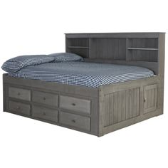 Harriet Bee Gilbertson Charcoal Bookcase Daybed with 6 Drawers Boys Bedroom Furniture, Girl Bedroom Walls, Bedroom Ideas, Dog Bedroom, Bedrooms, Bedroom Pictures, Bed Ideas, Pallet Furniture, Kids Furniture