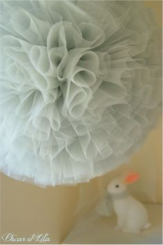 cute tulle poms