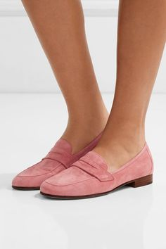 Heel measures approximately 20mm/ 1 inch Pink suede Slip on Come with dust bag Designer color: Blush Made in Italy