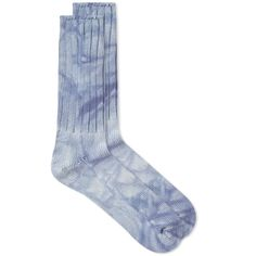 Anonymous Ism Uneven Dye Crew Sock In Blue Clothes Encounters, Tie Dye Patterns, Crew Socks, Anonymous, Indigo, Mens Fashion, Men's Style, Blue, Dress