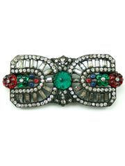 1920's Unsigned Multi Stone Rectangular Brooch by House of Lavande