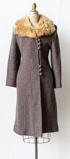vintage 1930s coat | #vintage #1930s Vintage fur coat