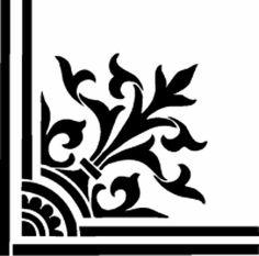 Victorian Stencil www. Stencils, Damask Stencil, Stencil Templates, Stencil Patterns, Stencil Diy, Stencil Painting, Stencil Designs, Kirigami, Corpus Christi