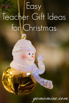 Next to family, a teacher is one person who can have the greatest impact on your child's entire life ~ self esteem and all. In my book there's not a gift I can think of that can honor that appropriately. But in the mean time I've got some ideas that might help.  Easy Teacher Gift Ideas for Christmas | gomominc.com