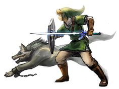 Link and Wolf Link