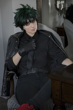 Villain Deku cosplay *they lowkey cute as hell*