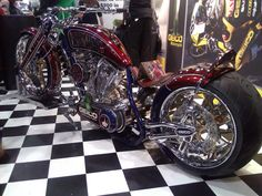 Geico-Inspired, Custom-Design Motorcycle Chopper. (Photo 2) #NYMotorcycleShows #Bikes #Cruisers #Motorcycles