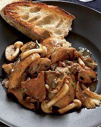Chicken, wild mushroom and Roasted-garlic saute