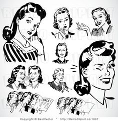 retro clip art ... Could make a cool DIY
