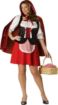 Adult Little Red Riding Hood Plus Size Premier Costume ($89.99) - Party City ONLINE | 4.2 stars