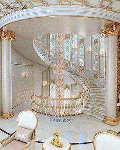 New stairs design architecture grand staircase foyers ideas Luxury Home Decor, Luxury Interior, Home Interior Design, Design Interiors, Hotel Interiors, Grand Staircase, Staircase Design, Luxury Staircase, Dream Home Design
