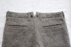 Grey cotton pants with braces