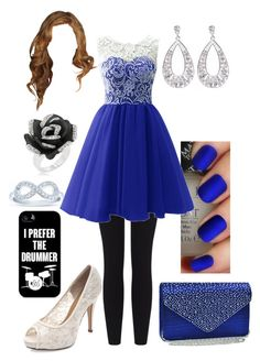 """Blue Party Dress"" by briony-jae ❤ liked on Polyvore"