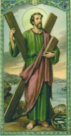 Saint Andrew. Feast day November 30th. Patron Saint of fisherman and first disciple of Christ.