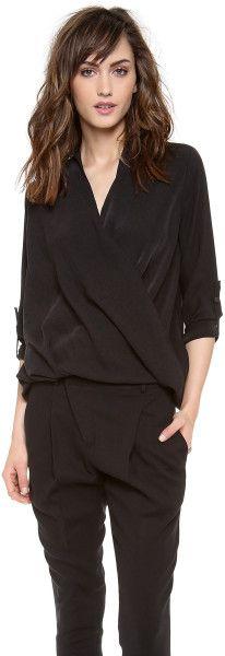 Helmut lang Render Drape Shirt in Black