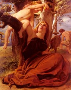 Adam and Eve after the Fall - Oil on canvas - Edward von Steinle - c. 1853 I love biblical art!!!!